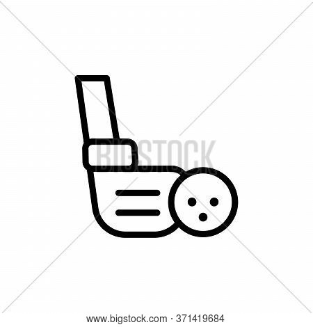Golf Stick, Ball Concept Line Icon. Simple Element Illustration. Golf Stick, Ball Concept Outline Sy