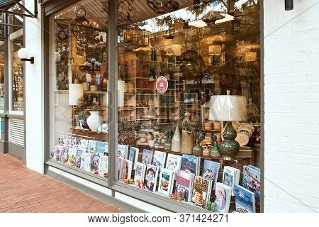 Boulder, Colorado - May 27th, 2020: Shopping Window Display Of Small Business At Pearl Street Mall,