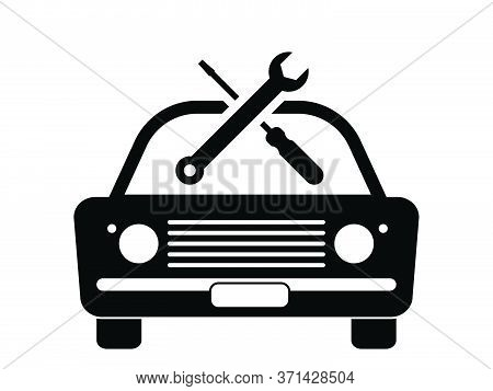 Old Vintage Junk Car Vehicle Automobile Repair Servicing Maintenance Repair Wrench Screwdriver Tool.