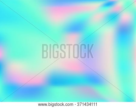 Neon Holographic Paper Fluid Gradient Backdrop. Fluorescent Iridescent Mermaid Background. Polar Lig