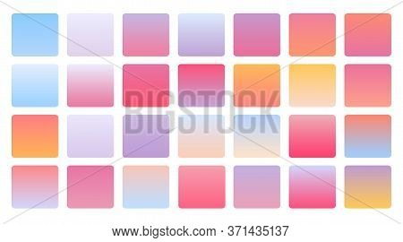 Soft Pastel Color Gradients Combination Mega Set
