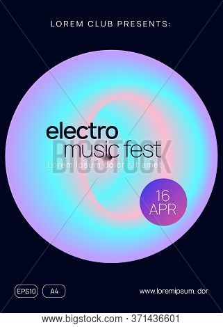 Music Fest. Trendy Trance Event Cover Design. Electronic Sound. Night Dance Lifestyle Holiday. Fluid