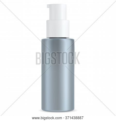 Moisturizer Bottle. Pump Dispenser For Cosmetic Lotion, Shampoo. Hand Or Body Wash Packaging Isolate