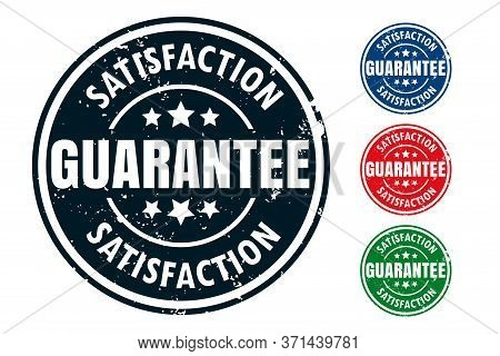 Satisfaction Guarantee Rubber Stamp Seal Design Set