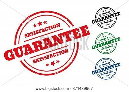 Satisfaction Guarantee Rubber Stamp Label Set Of Four