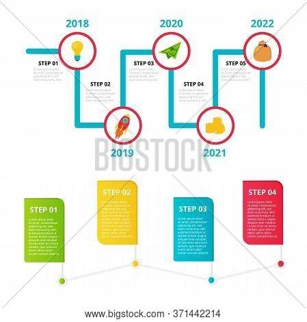 Milestone, Timeline Templates Set For Presentation, Business Concept, Vector Design. Infographic Ele
