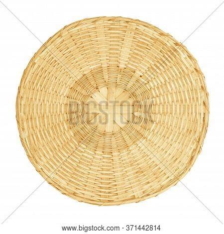 Threshing Basket, Use In Kitchen Isolated On White Background