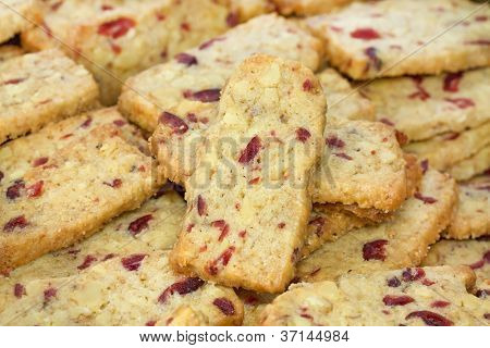 Walnut Cranberry Christmas Cookies