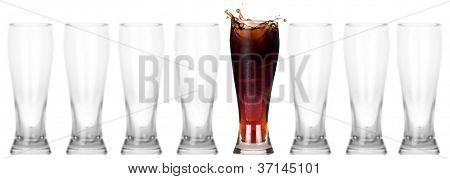 Fresh Coke Isolated. Leader Concept
