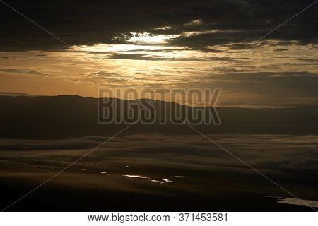 Ngorongoro Crater Tanzania Serengeti Africa Morning Landscape Scenery Scenic Sunrise
