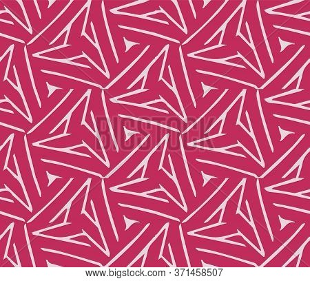 Beautiful Interlaced Abstract Geometric Vector Pattern Background.