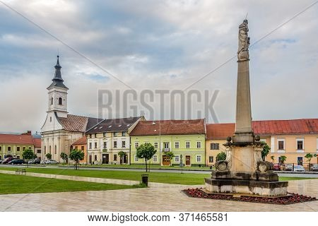 Spisske Podhradie,slovakia - June 8,2020 - View At The Streets Of Spisske Podhradie Town. Spisske Po