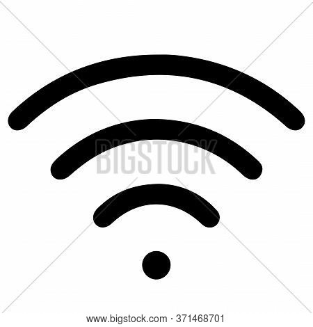 Free Wifi Icon. Vector Wlan Access, Wireless Wifi Hotspot Signal Sign. Vector Illustration
