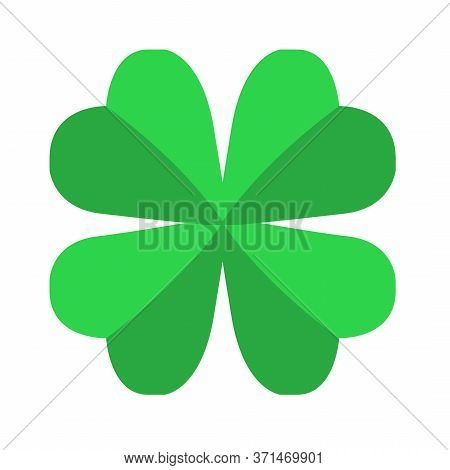Four Leaf Clover Icon Isolated On White Background. Symbol Of Luck And Fortune Clover With Four Peta