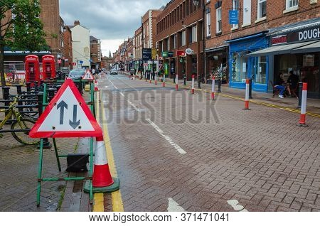 Chester, Uk: Jun 14, 2020: A General Street Scene Of Chester City Centre On A Sunday Afternoon. Many