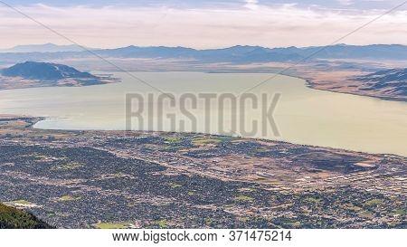 Panorama Panorama Of Utah Lake And Utah Valley