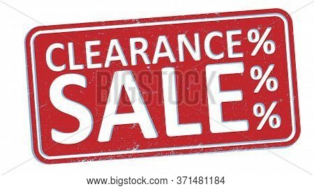Red Grungy Clearance Sale Rubber Stamp Or Sign Vector Illustration