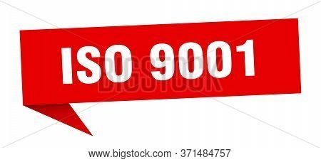 Iso 9001 Banner. Iso 9001 Speech Bubble. Iso 9001 Sign