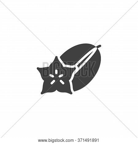Carambola Fruit Vector Icon. Filled Flat Sign For Mobile Concept And Web Design. Carambola Slice And