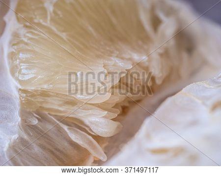 Fresh Close Up Image Of Peeled Pomelo, Grapefruit, Shaddock