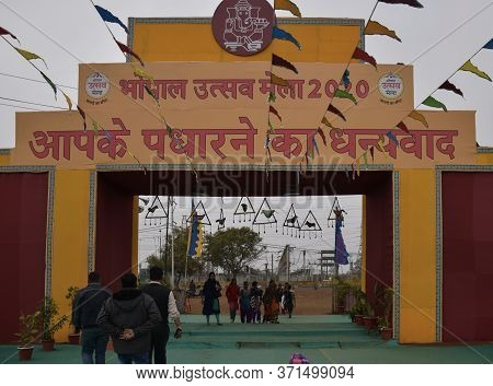 Bhopal, Madhya Pradesh/india : January 16, 2020 - Decoration In Utsav Mela (carnival), Bhopal, Madhy