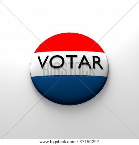 Spanish voter button