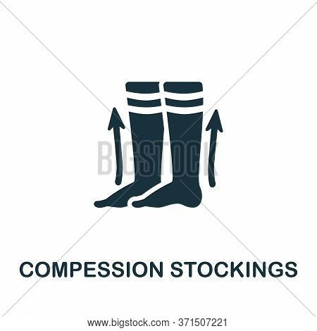 Compression Stockings Icon. Simple Element From Trauma Rehabilitation Collection. Creative Compressi