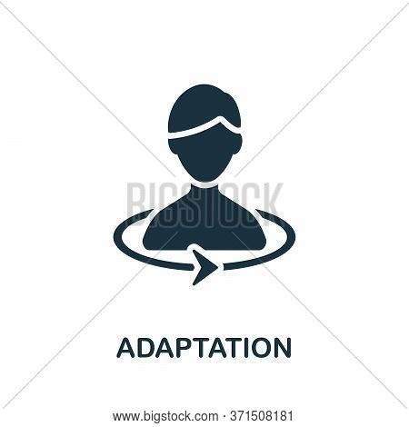 Adaptation Icon. Simple Element From Psychology Collection. Creative Adaptation Icon For Web Design,