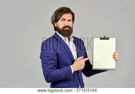 Look At That. Mature Man In Jacket Hold Office Folder. Business Intelligence Analyst. Enterprise Res