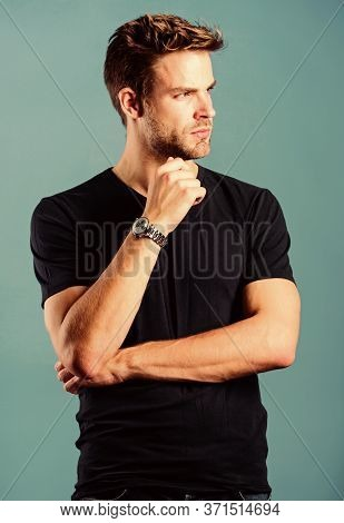 Watches Are Convenient. Status And Reputation. Watch Repair. Keep Punctual. Man Well Groomed Handsom