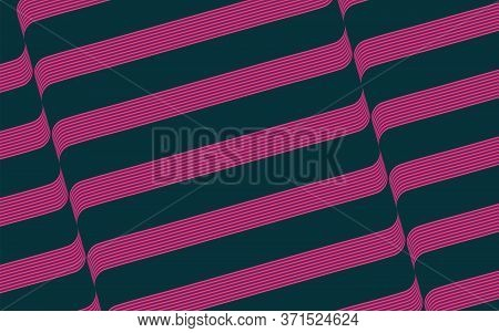 Wave Abstract Background With Purple Color. Vector Illustration In Colored Style.