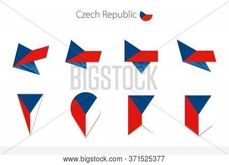 Czech Republic National Flag Collection, Eight Versions Of Czech Republic Vector Flags. Vector Illus