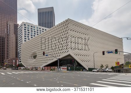 Los Angeles, California, Usa- 11 June 2015: The Broad, A Contemporary Art Museum On Grand Avenue In