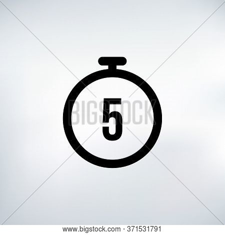 5 Seconds Countdown Timer Icon Set. Time Interval Icons. Stopwatch And Time Measurement. Stock Vecto