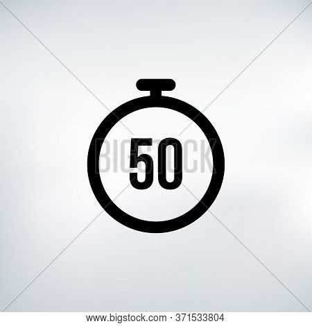 50 Seconds Countdown Timer Icon Set. Time Interval Icons. Stopwatch And Time Measurement. Stock Vect