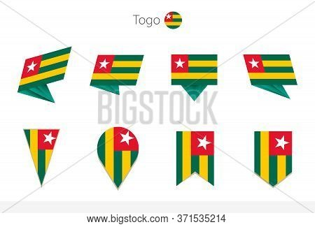 Togo National Flag Collection, Eight Versions Of Togo Vector Flags. Vector Illustration.