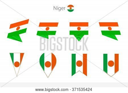 Niger National Flag Collection, Eight Versions Of Niger Vector Flags. Vector Illustration.