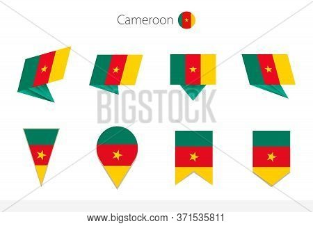 Cameroon National Flag Collection, Eight Versions Of Cameroon Vector Flags. Vector Illustration.