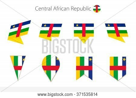 Central African Republic National Flag Collection, Eight Versions Of Central African Republic Vector