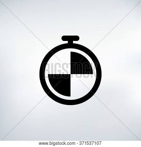 Timer Seconds Countdown Timer Icon Set. Time Interval Icons. Stopwatch And Time Measurement. Stock V
