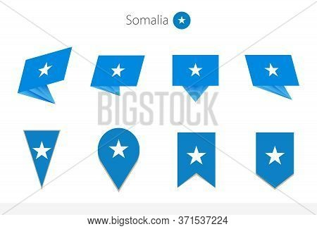 Somalia National Flag Collection, Eight Versions Of Somalia Vector Flags. Vector Illustration.