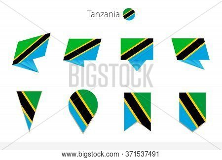 Tanzania National Flag Collection, Eight Versions Of Tanzania Vector Flags. Vector Illustration.