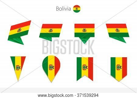 Bolivia National Flag Collection, Eight Versions Of Bolivia Vector Flags. Vector Illustration.