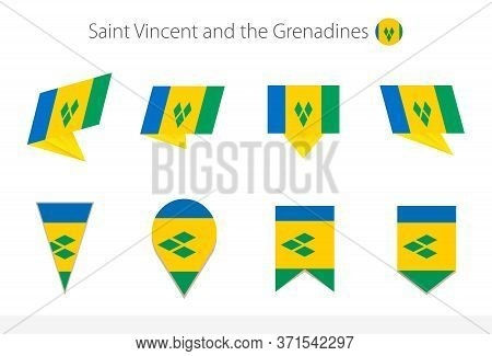 Saint Vincent And The Grenadines National Flag Collection, Eight Versions Of Saint Vincent And The G
