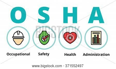 Osha, Occupational, Safety Health , Administration, Vector Design.