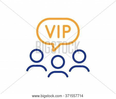 Vip Clients Line Icon. Very Important Person Sign. Member Club Privilege Symbol. Colorful Thin Line