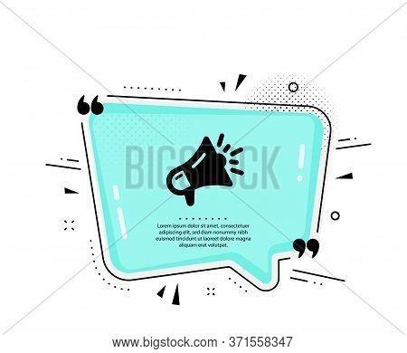 Megaphone Icon. Quote Speech Bubble. Advertisement Device Symbol. Brand Ambassador Loudspeaker Sign.