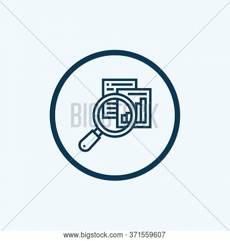 Research Icon Isolated On White Background From Design Thinking Collection. Research Icon Trendy And