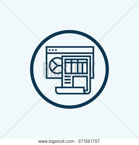 Dashboard Icon Isolated On White Background From Website Element Collection. Dashboard Icon Trendy A