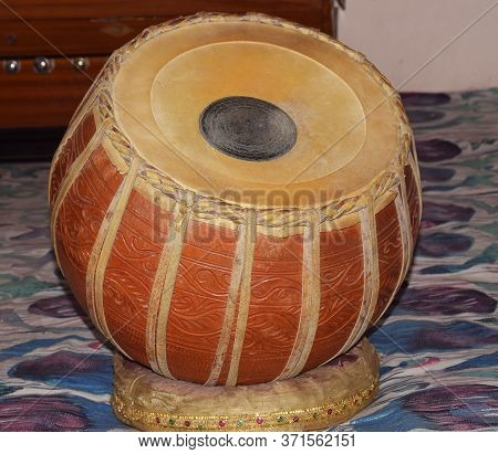 Left Part Or One Part Of Tabla Musical Instrument. It Is Made Up Of Clay Or Mud And Also Called As B